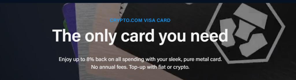 The visa card service of Crypto.com.