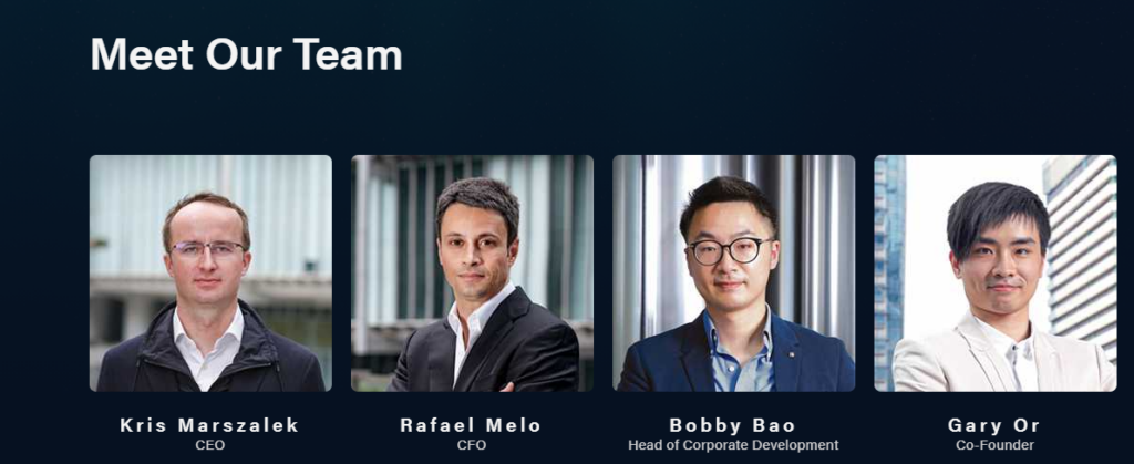 Pictures of the core team members of Crypto.com.