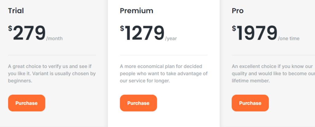 Pricing Plans of CryptoAlarm.