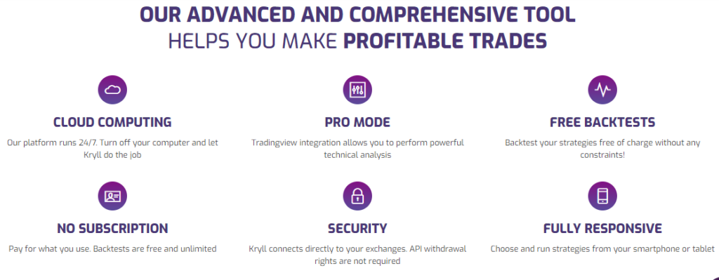 Features of Kryll Service.