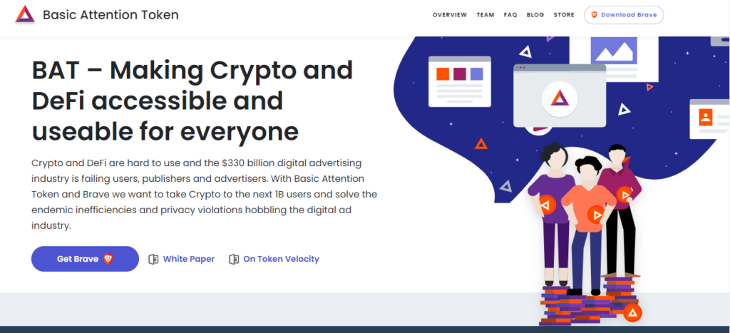 Home page of the Basic Attention Token