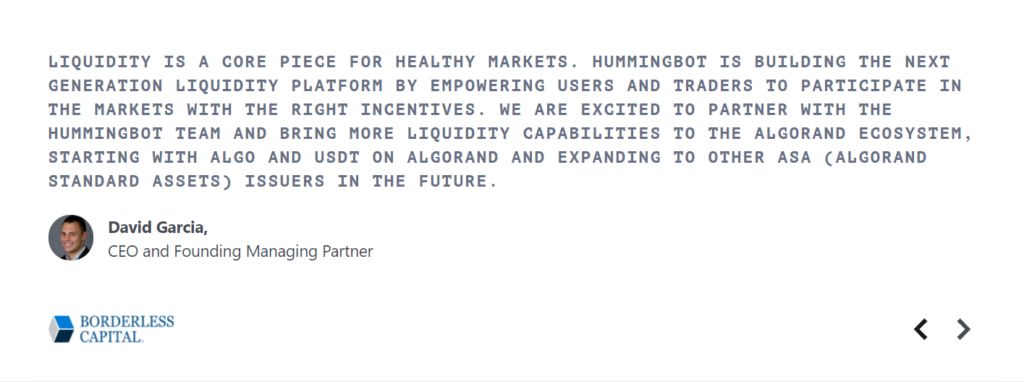 Testimonial from an industry leader.