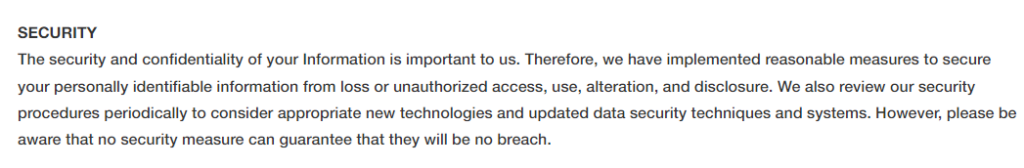 Security info for Tickeron.